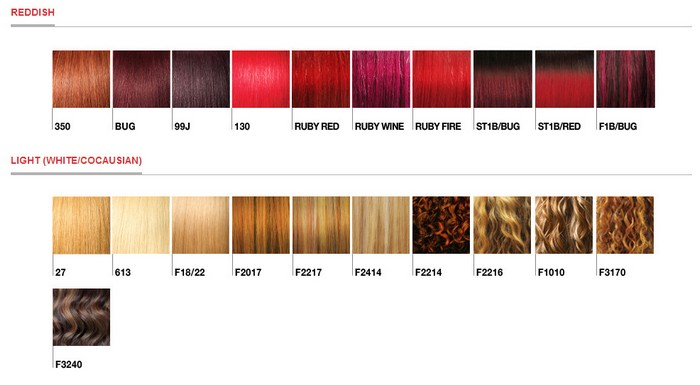 Isis Color Chart