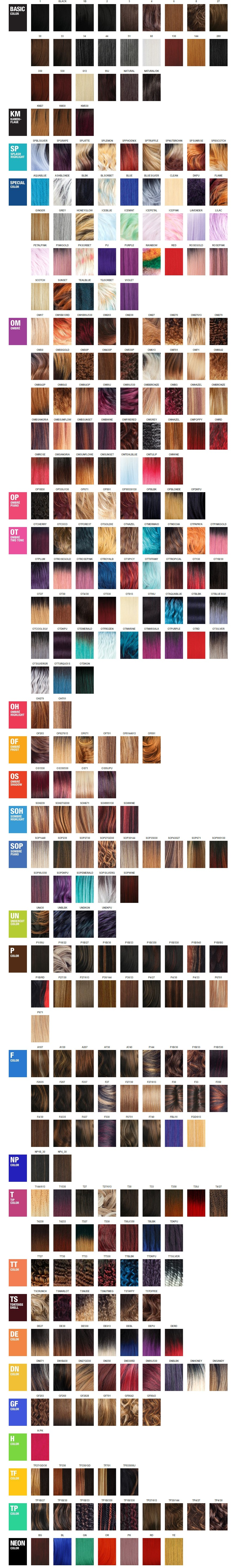 Weave Hair Color Chart 9346980 Girlietalkfo