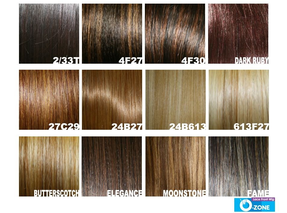 Wig Color Chart Ibovnathandedecker