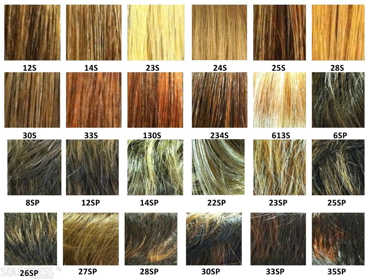 Color chart for wigs -  Soultress Color Chart